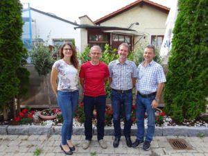 Die neue Vorstandschaft. Von links: Karin Dannerbeck, Karl Köllnberger, Erwin Geiger, Franz Starzer